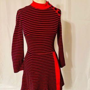 60's Mod Style Long Sleeve Dress